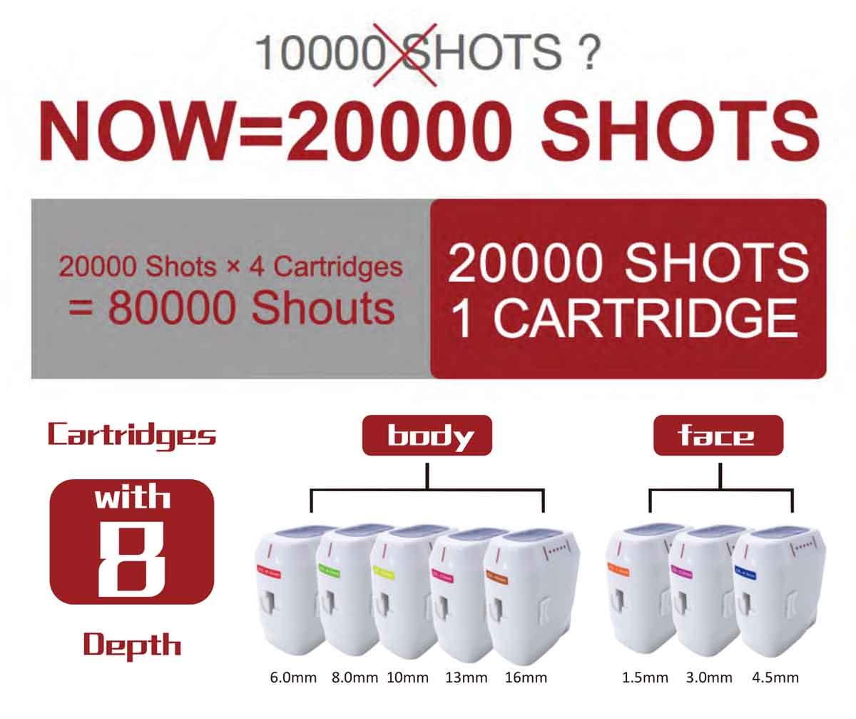 3D HIFU Beauty Machine 20000 shots