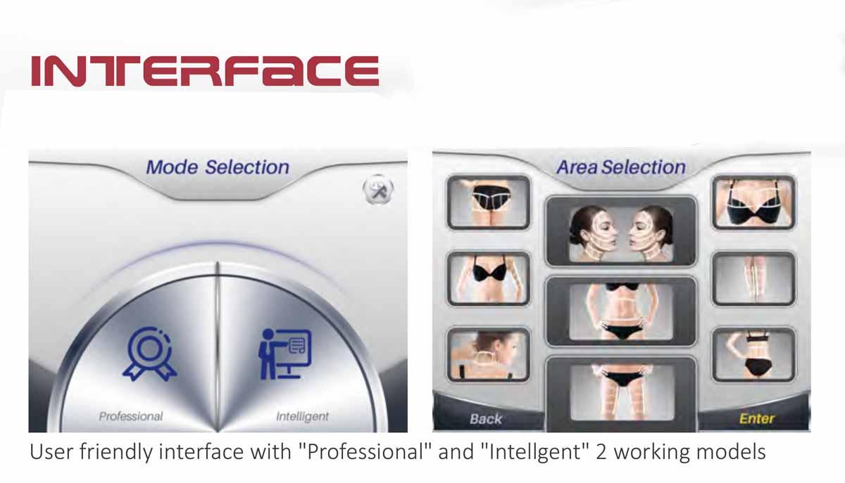 3D HIFU Beauty Machine mode selection