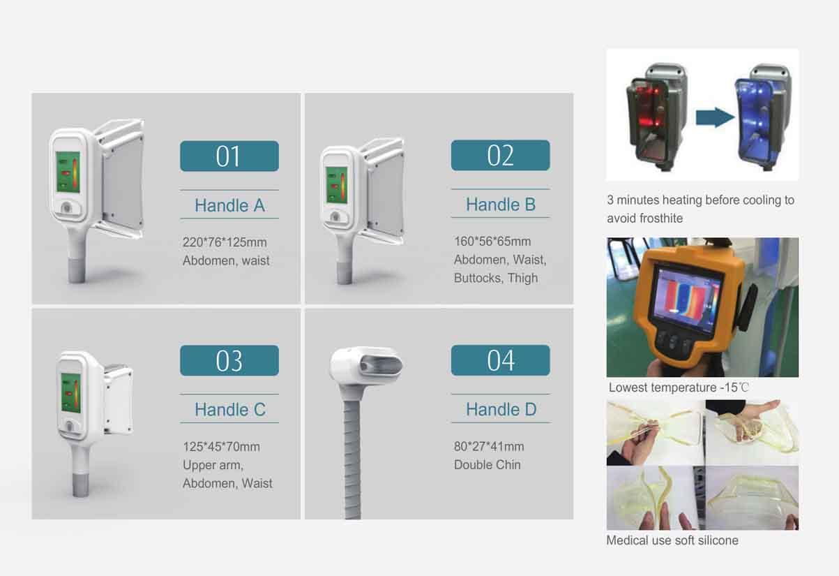 LB-C4B 4 Handles Cryolipolysis Slimming Machine Handle Details