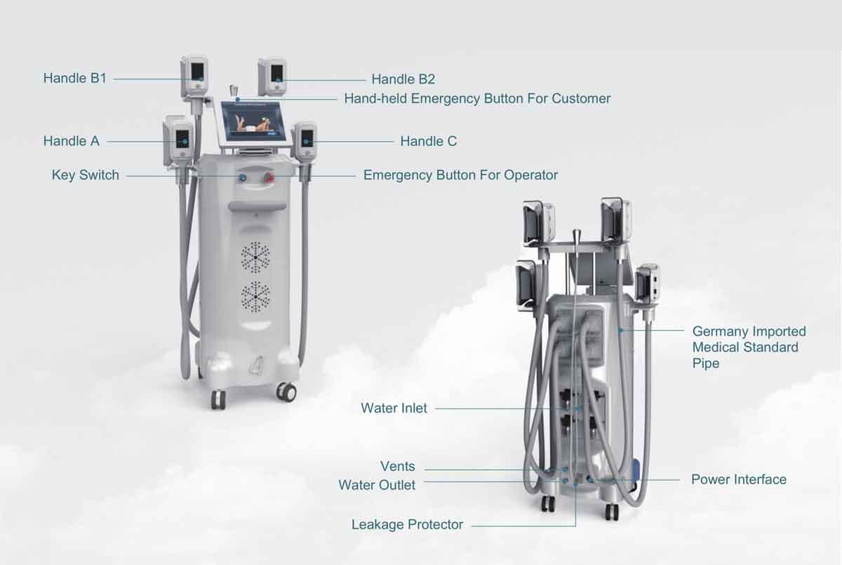 LB-C4B 4 Handles Cryolipolysis Slimming Machine details
