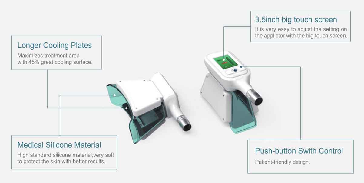 LB-C4B 4 Handles Cryolipolysis Slimming Machine handles