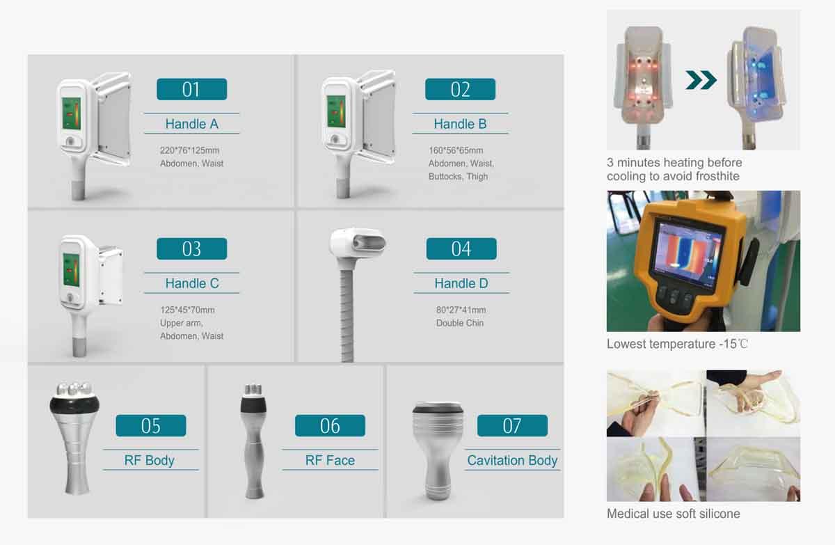 LB-C5 Cryolipolysis Slimming Machine Handle details