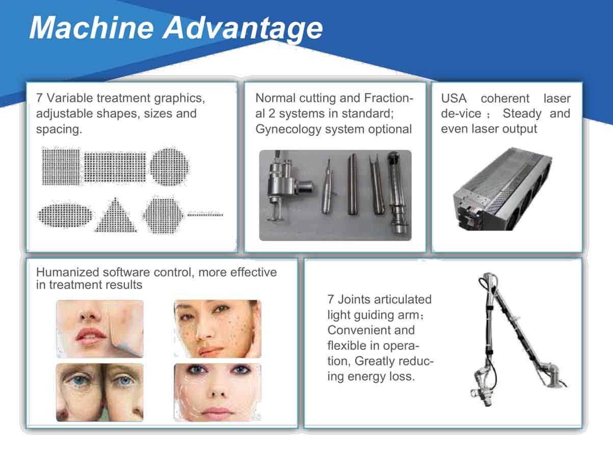 Rf Pipe Fractional Co2 Laser Machine
