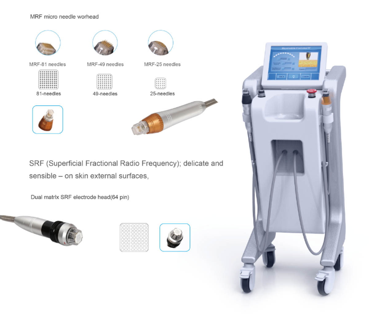 Vertical Fractional RF Microneedle Machine Advantages Detail